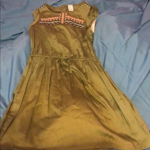 Carter's Girl's army green dress, size 8